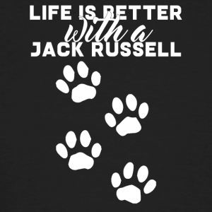 Dog / Jack Russell: Life Is Better With A Jack - Men's Organic T-shirt