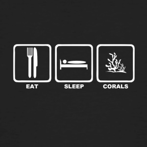 Eat sleep corals with text - Men's Organic T-shirt
