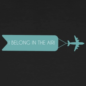 Pilot: I Belong In The Air. - Økologisk T-skjorte for menn