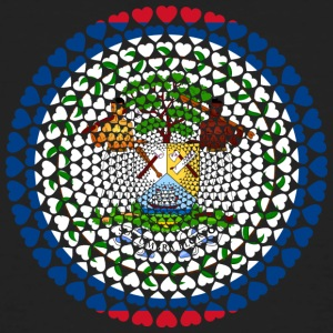 Belize Love Heart Mandala - T-shirt bio Homme