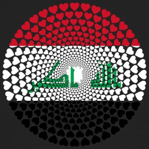 Iraq Iraq العراق Love HEART Mandala - Men's Organic T-shirt