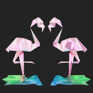 Low-poly Flamingo - Økologisk T-skjorte for menn