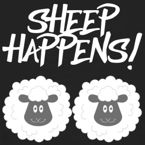 Sheep / Farm: Sheep Happens! - Men's Organic T-shirt