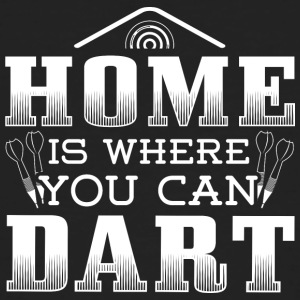 DART HOME IS WHERE YOU CAN DART - Männer Bio-T-Shirt