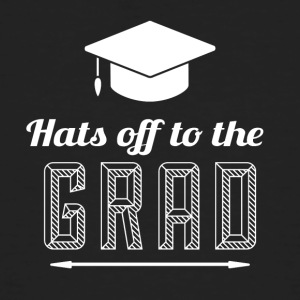 High School / Graduation: Hats off to the degree - Men's Organic T-shirt