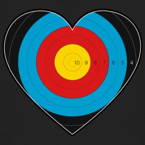 Heart Archery - I love archery - Men's Organic T-shirt