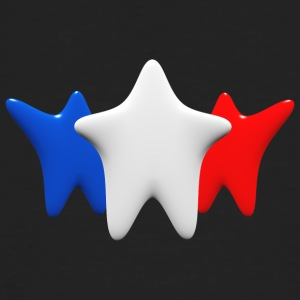 Stars in blue, white and red - Men's Organic T-shirt