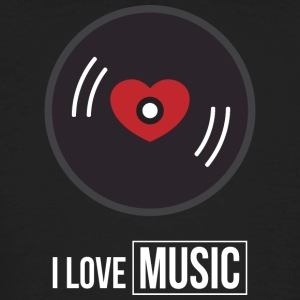I Love Music - Men's Organic T-shirt
