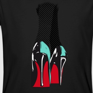 high heels hot sexy lack leder pop manolos absatz - Männer Bio-T-Shirt