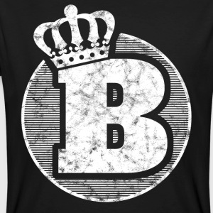 Stylish letter B with crown - Men's Organic T-shirt