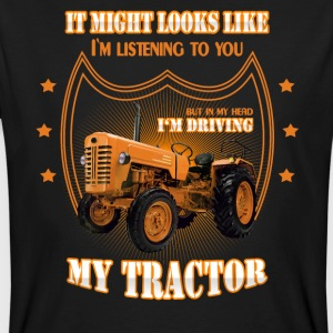 In my head I'm driving my TRACTOR Trekker Traktor - Männer Bio-T-Shirt