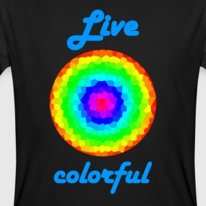 livet Colorful - Ekologisk T-shirt herr