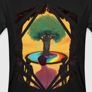 Traveller at the Tree of Creativity - Men's Organic T-shirt