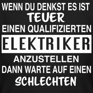 Lustiges Elektriker Design - Männer Bio-T-Shirt