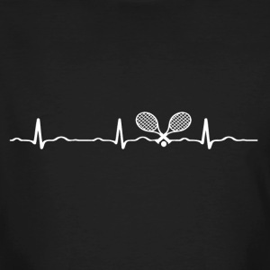 ECG HEARTBEAT TENNIS white - Men's Organic T-shirt