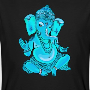 Ganesha Yoga India God Hindu Namaste turquoise elef - Men's Organic T-shirt