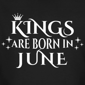 Kings are born in June - Männer Bio-T-Shirt