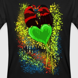 'Love' n 'Music' by BlackenedMoonArts - Men's Organic T-shirt