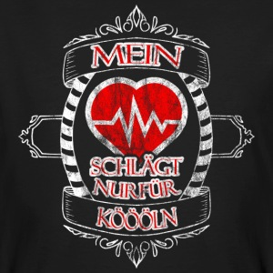 My heart beats only for Koeln - Men's Organic T-shirt