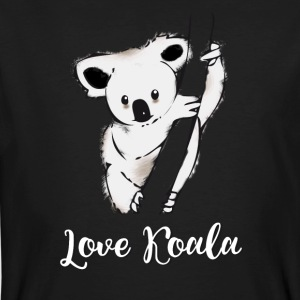 koala ours accroché arbre froid sieste taille basse froid lol - T-shirt bio Homme