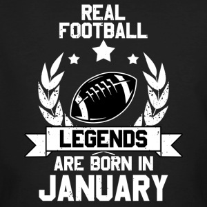 Football Legends! Verjaardag! januari - Mannen Bio-T-shirt