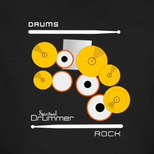 Drums Rock White - T-shirt bio Homme