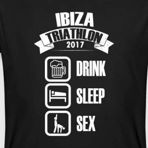 IBIZA Triathlon Drink & SEX - Mannen Bio-T-shirt