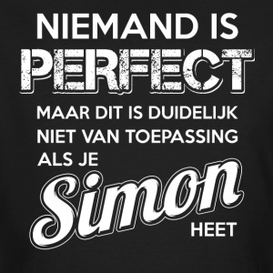 Niemand is perfect. Persoonlijk cadeau Simon. - Mannen Bio-T-shirt