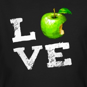 Love Apple Apple Vegan PC Nerd geekhumor Frukt g - Ekologisk T-shirt herr