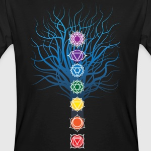 7 chakras on Tree - Men's Organic T-shirt