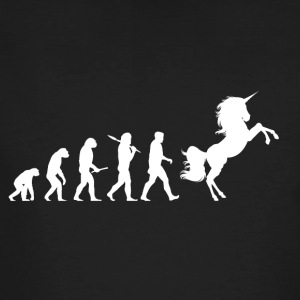 evolutie Unicorn - Mannen Bio-T-shirt