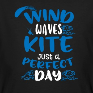Vind Waves Kite Just A Perfect Day - Ekologisk T-shirt herr