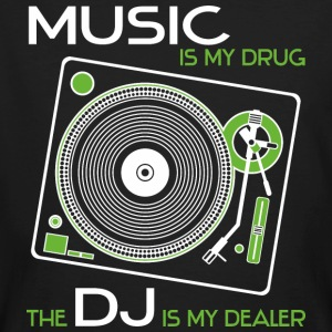 Music is my drug - the dj is my dealer green - Men's Organic T-shirt