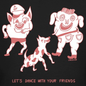 Let's Dance with your Friends by Cheslo - Männer Bio-T-Shirt