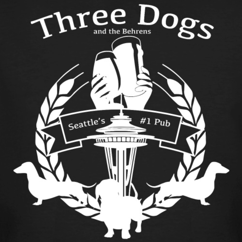 Seattle Three Dogs And The Behrens Pub - Men's Organic T-Shirt