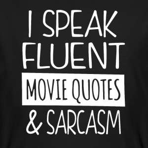 Movie quotes en sarcasme - Mannen Bio-T-shirt