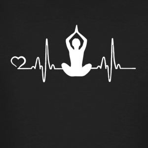 Yoga - heart beat - Men's Organic T-shirt