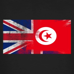 British Tunisian Half Tunisia Half UK Flag - Men's Organic T-shirt