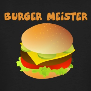 Burger-Meister Motiv Funny shirt for fast food - Men's Organic T-shirt