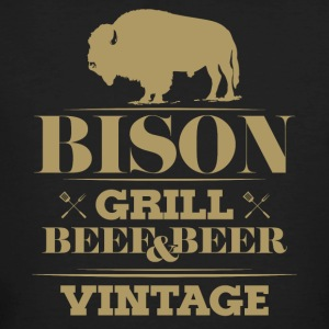 Grill · Barbecue · Bison · Vintage - T-shirt bio Homme