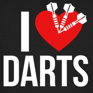 I LOVE DARTS WHITE - Männer Bio-T-Shirt
