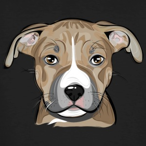 AMERICAN STAFFORDSHIRE TERRIER puppy - Men's Organic T-shirt