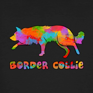 hemel Border Collie Rainbow - Mannen Bio-T-shirt