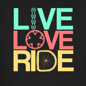Live, Love, Ride - T-shirt ecologica da uomo