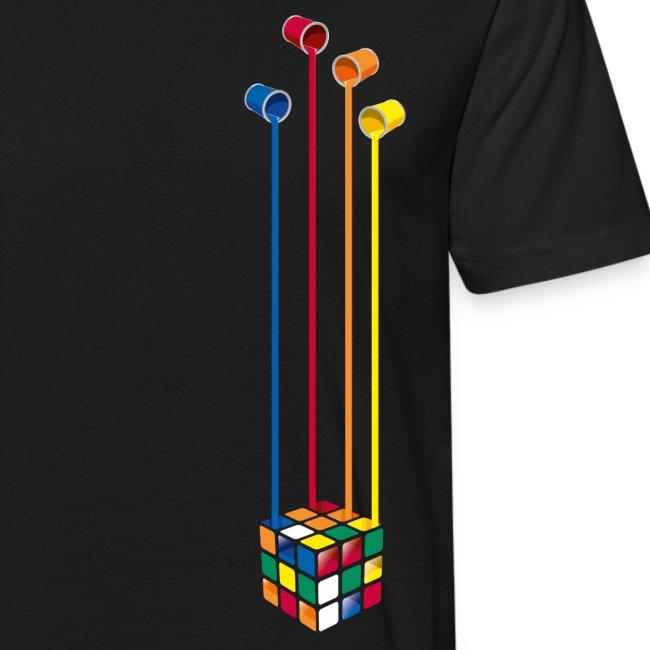 Rubik's Cube Colourful Paint Buckets