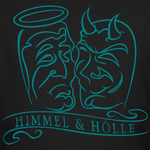 Himmel & Hölle - Männer Bio-T-Shirt
