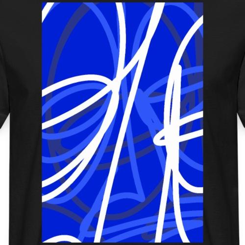 FRTZNABSTRCTN Blau (#176) - Männer Bio-T-Shirt