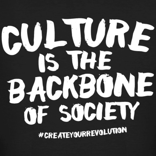 Culture is the backbone of society - Men's Organic T-Shirt