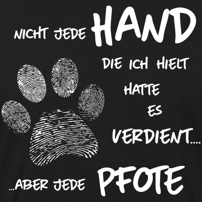 Vorschau: Hand Pfote Hund - Männer Bio-T-Shirt