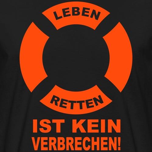 Rettungsring - Männer Bio-T-Shirt